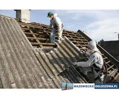 Demontaż eternitów (azbest) z dachów